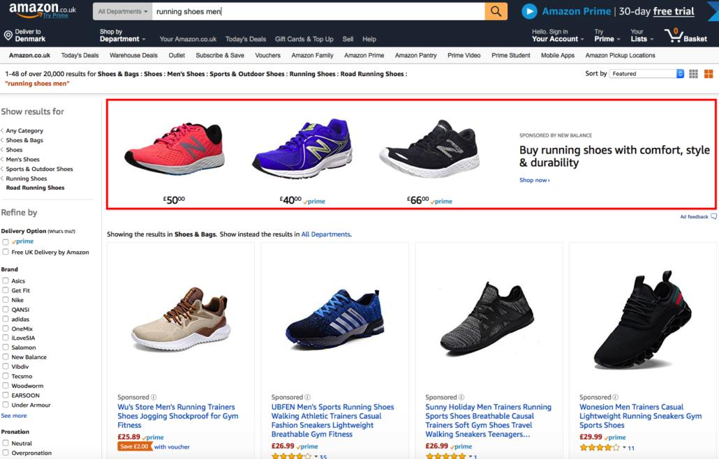 Headline Search Ad på Amazon