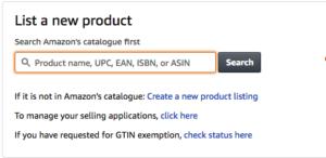 Oprette nye produkt på Amazon